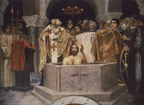 В. Васнецов - Крещение Владимира